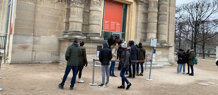 オランジュリー美術館 入り口付近の景観