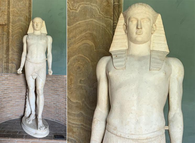 ヴィッラ・アドリアーナでから出土した彫像
