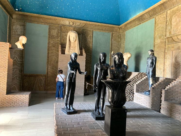 グレゴリウス・エジプト美術館内の景観