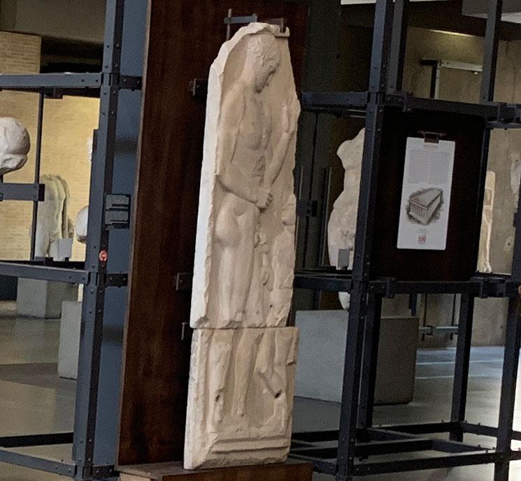 若き競技者の墓碑(紀元前5世紀のギリシャのもの)