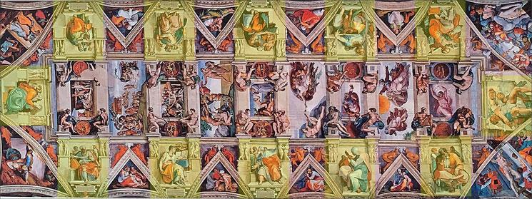 ミケランジェロ 天井画の説明画像