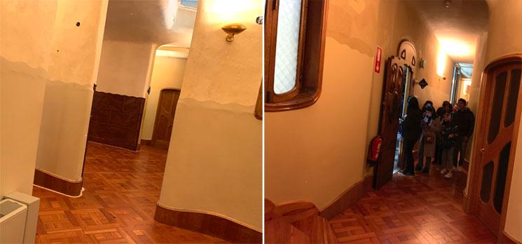 メインフロアの通路と小部屋