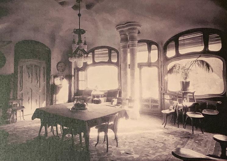 ダイニングルームの当時の様子を撮影した写真