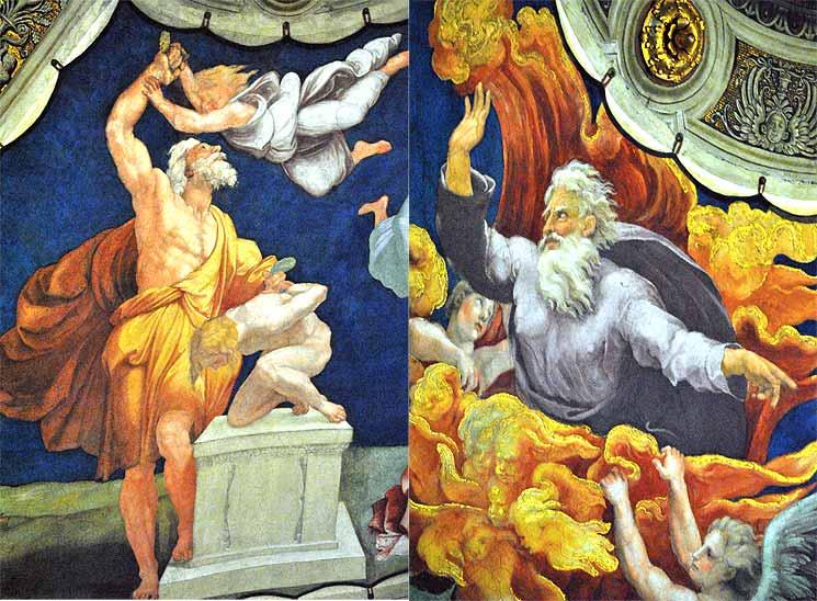 コンスタンティヌウスの間の天井画