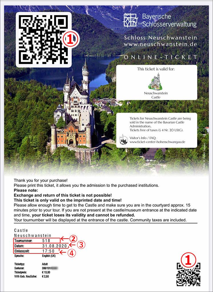 ノイシュヴァンシュタイン城の本チケット