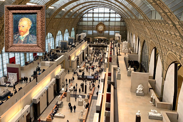 オルセー美術館館内の大時計