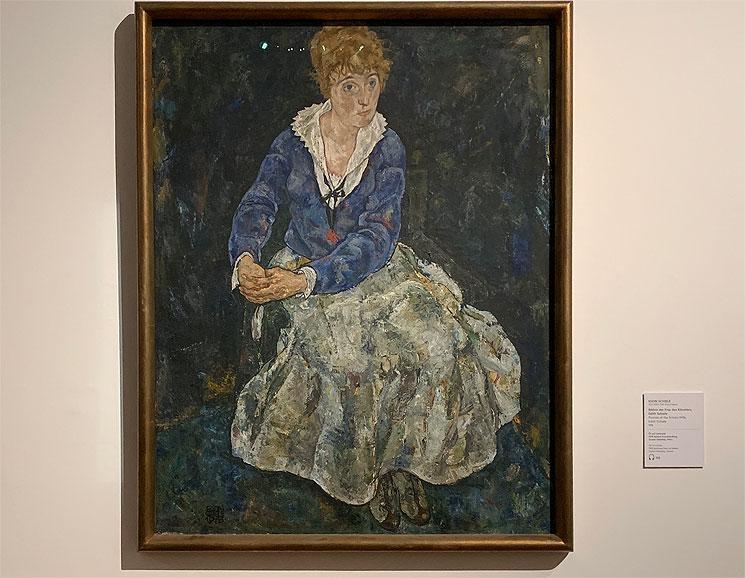 エゴン・シーレー作 エディス・シーレの肖像