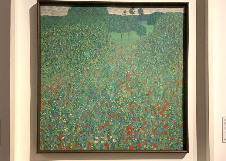 グスタフ・クリムト作 けしの咲く野