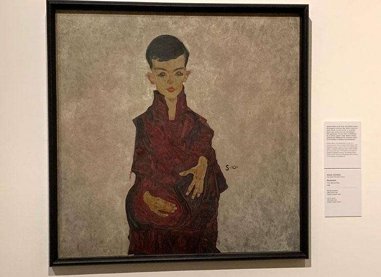 エゴン・シーレー作 ヘルベルト・ライナーの肖像