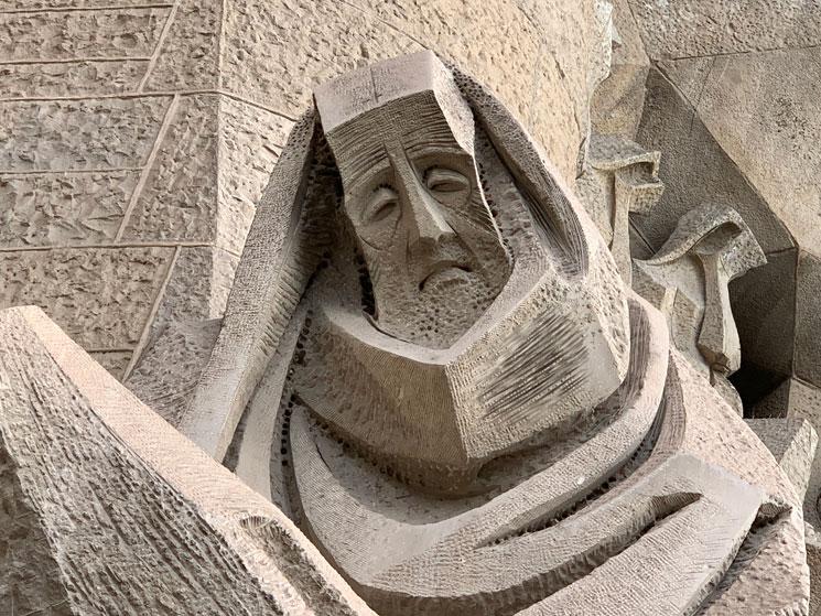 受難のファサードの彫刻