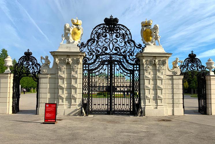 ベルヴェデーレ宮殿 上宮南側の正門