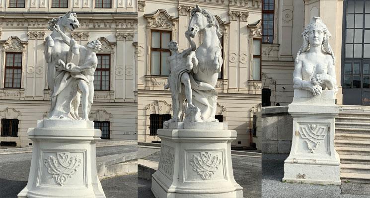 庭園のバロック彫刻