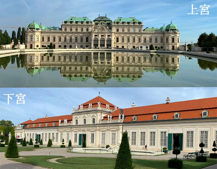 ベルヴェデーレ宮殿 上宮と下宮
