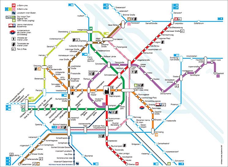 ウィーン交通機関の全路線図