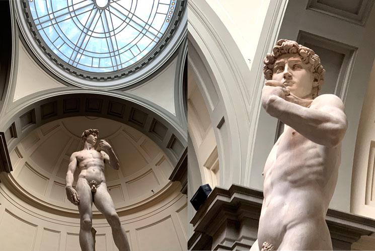 アカデミア美術館内のダビデ像