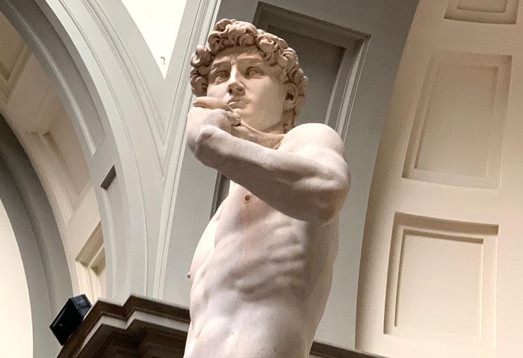 ダヴィデ像の上部分