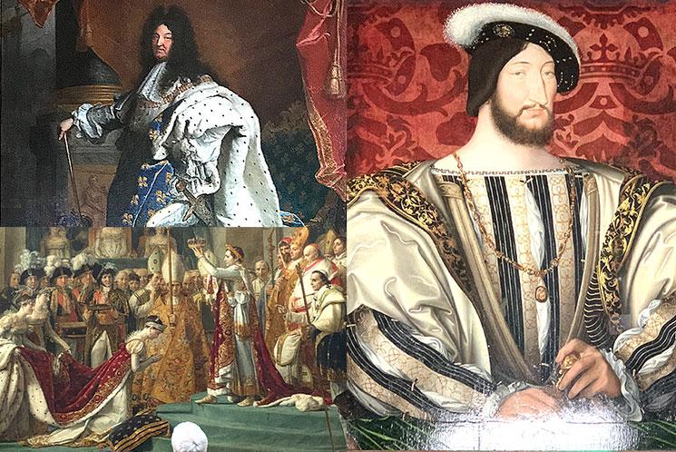 フランス歴代国王の肖像画