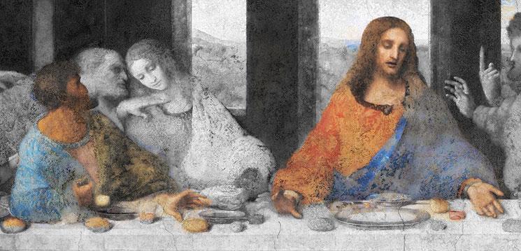 最後の晩餐 キリストとユダ