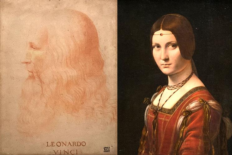 レオナルド・ダヴィンチの肖像画とラ・ベル・フェロニエール