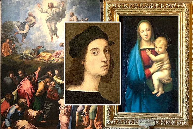 ラファエロ自画像と絵画作品